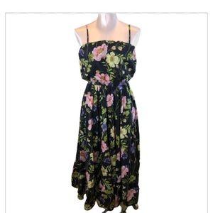 Express Dark Floral Long Sundress